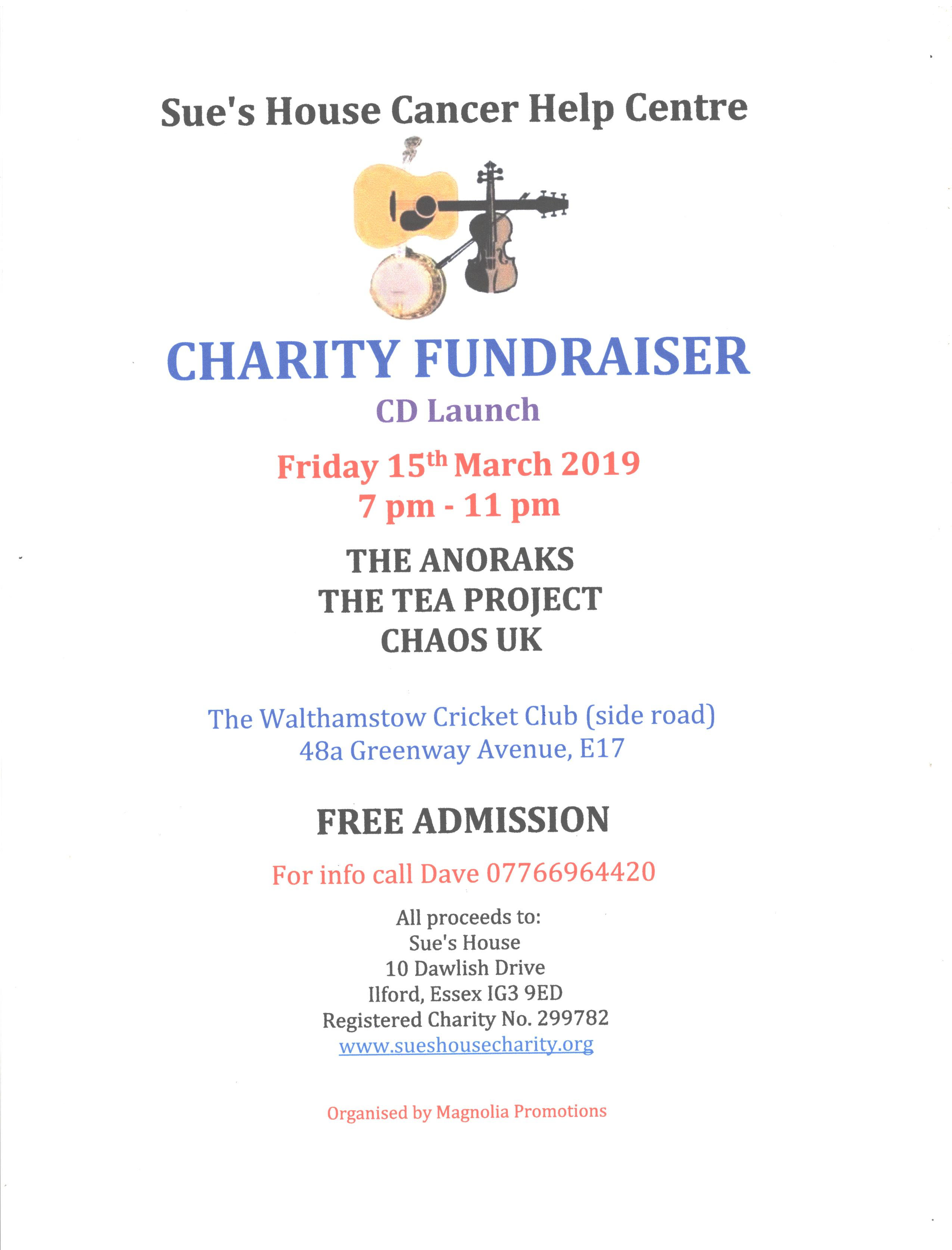 Charity fundraiser March 2019